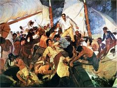 1816. Expedicion de Los Cayos, al abordaje del Bargantin Intrepido. Tenia Bolivar 33 años.