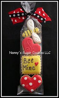 Bee Mine Cookies cute little Valentines day cookies for your kids next party.