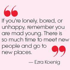 teenvogue:  Vampire Weekend frontman Ezra Koenig gave us his best college advice