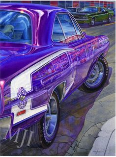 RIGHT ON SPAULDING - from the 'Icons of Indusrty' Series. An original painting by Michael Irvine - Fine automotive art. www.michaelirvine.com $160