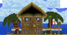 terraria house cute - Google Search