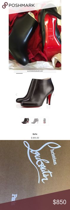 Brand New Christian Louboutin Belle  Color : Black Material : Leather Heel height : 85mm Collection : Classic Christian Louboutin Shoes Ankle Boots & Booties