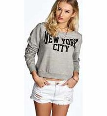 boohoo New York City Sweat - grey azz12283 Make your top pop this season with sporty, baseball-style basic tees in quilted finishes with ribbed, stripe trims. Crew necks come in block colours, crop tops with mesh inserts and long sleeve jersey http://www.comparestoreprices.co.uk/womens-clothes/boohoo-new-york-city-sweat--grey-azz12283.asp