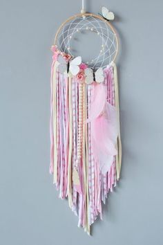 MumKoa | Categorías del producto ATRAPASUEÑOS Making Dream Catchers, Dream Catcher Art, Toddler Arts And Crafts, Yarn Wall Art, Paper Flowers Craft, Angel Crafts, Macrame Design, Idee Diy, Kids Room Art