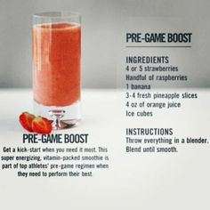 Pre game boost! For athletes