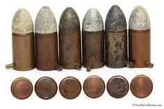 Civil War pinfire cartridges
