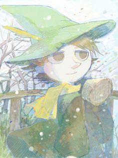 Moomin, Snufkin, Backpack, Winter, Hat Feather, Feather