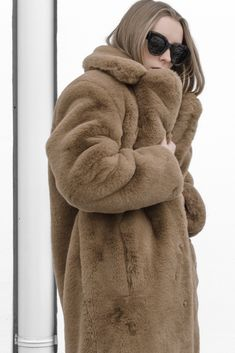 Teddy Bear Life | Mango Brown Faux Fur Teddy Coat / Céline Sunnies | IG: @hauteatheart | *affiliate link Fox Fur Coat, Fur Coats, Ladies Fashion, Autumn Fashion, Womens Fashion, Celine, Fake Fur, Winter Outfits, Personal Style