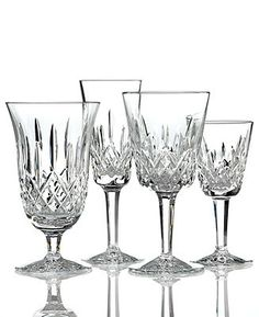 Waterford Stemware, Lismore Collection - Waterford Crystal Stemware - Dining & Entertaining - Macy's  -  mine came from Harrods