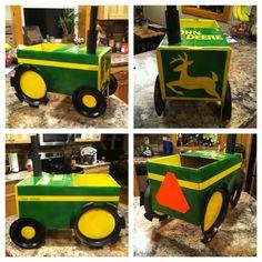 Brynn's Halloween costume 2014 :)  John Deere tractor