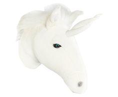 Trofeo de pared Unicorn Alicia - blanco