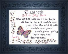 Jesse - Name Blessings Personalized Cross Stitch Design from Joyful Expressions Cross Stitch Designs, Cross Stitch Patterns, Top Baby Girl Names, Baby Names, Esquivel, Favorite Bible Verses, Names With Meaning, Meaningful Gifts, Gifts For Family
