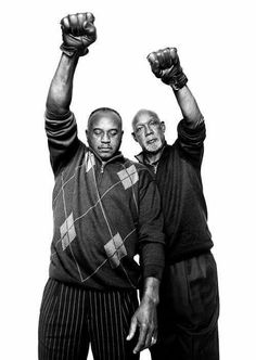 44 Years later Tommie Smith and John Carlos, 1968 Olympic medal winners.