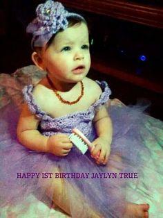Crocheted tulle Birthday dress & headband