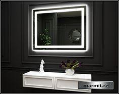 Oglinda baie Amely cu iluminare | Marmit - Obiecte sanitare Bathroom Lighting, Led, Mirror, Furniture, Home Decor, Bathroom Light Fittings, Bathroom Vanity Lighting, Decoration Home, Room Decor