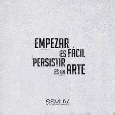 Empezaresfácil.Persistiresunarte.#Entrenamiento#Actitud#Éxito