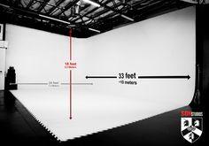 SON Studios Cyclorama Wall Measurements – SON Studios Mc Studio, Design Studio Office, Studio Layout, Recording Studio Design, Garage Studio, Dream Studio, Film Studio, Photography Studio Spaces, Studio Portrait Photography