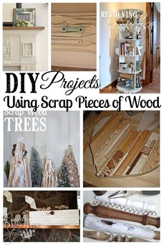 A collection of DIY projects using scrap wood.  The scrap wood swept up in the dust pan of the workshop.  Country Design Style