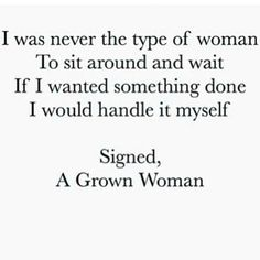A Grown woman