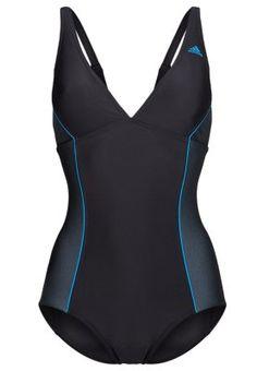 adidas Performance Badeanzug - black/solar blue - Zalando.de