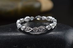 Lucy Beaded Pear and Bubble Diamond Eternity by DiamondDoveJewelry, $720.00 rose gold please