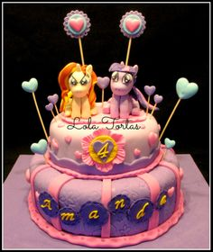 Torta My Little Pony - Torta Twilight Sparkle  y Sunset Shimmer. My Little Pony cake