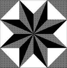 Black monochrome star Barn quilt patterns Quilt blocks Quilt patterns