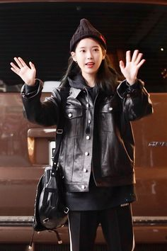 Korean Age, Talent Agency, Korean Singer, Girl Group, Punk, Leather Jacket, Actresses, Jackets, Beautiful