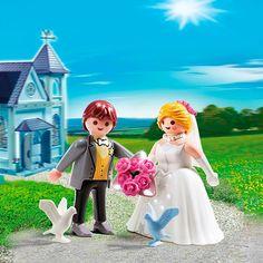 Jolie mariée Playmobil pour cake topper (à mixer avec le marié de l'autre couple Playmobil !!)