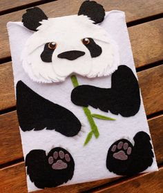 Funda iPad Case Oso Panda - Funda fieltro Galaxy Tab  - iPad mini calcetin - Tablet Bag -  Funda iPad mini