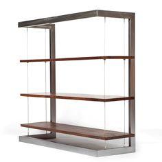 Fab.com | Suspended Bookshelf Walnut Small $1549