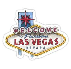 'Las Vegas' Sticker by irenealmalv Cute Laptop Stickers, Cool Stickers, Printable Stickers, Funny Stickers, Phone Stickers, Cartoon Stickers, Tumblr Stickers, Hight Light, Travel Wall Decor