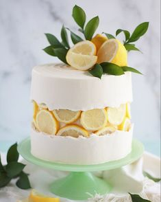 Lemon Slice Fault Line Cake - Baking with Blondie Gorgeous Cakes, Pretty Cakes, Cute Cakes, Amazing Cakes, Beautiful Cake Designs, Cool Cake Designs, Food Cakes, Cupcake Cakes, Taco Cupcakes