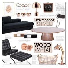 """Copper design"" by mada-malureanu ❤ liked on Polyvore featuring interior, interiors, interior design, home, home decor, interior decorating, Eichholtz, Trowbridge, Skultuna and Tom Dixon"