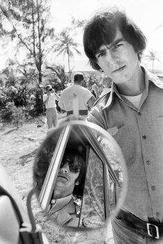 George Harrison and Ringo Starr during the filming of 'Help!' in the Bahamas in 1965. Credit: Rolling Stone