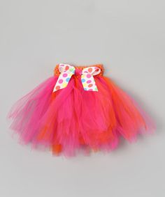 Take a look at this Pink & Orange Bow Tutu - Infant, Toddler & Girls by All the Little Things on #zulily today!