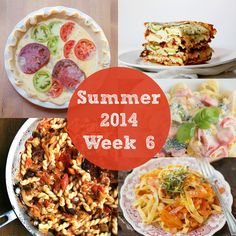 Summer 2014 Week 6 Meal Plan | Rainbow Delicious