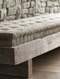 Bench- rolled edge cushion