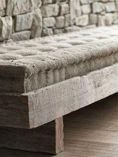 Bench- rolled edge cushion