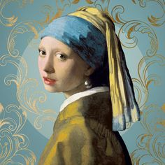 Canvas Art Print Of Girl With A Pearl Earring Johannes Vermeer - Painting Johannes Vermeer, Vermeer Paintings, Old Paintings, Beautiful Paintings, Most Famous Paintings, Dutch Golden Age, National Gallery Of Art, Dutch Painters, Oil Painting Reproductions