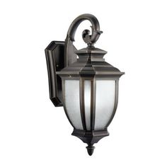 Kichler Lighting 11002RZ Salisbury 1-Light Fluorescent Outdoor Wall Mount Fixture, Rubbed Bronze with White Linen Glass by Kichler. $156.60. Requires one (1) medium based GU24, 18W bulb. 8-Inch wide by 19-1/2-Inch high; 11-Inch extension and a 7-Inch height from center of wall opening. Backplate dimensions are 5 3/4-Inch by 9-1/2-Inch. Listed to UL/CSA/ETL standards for wet location use. Coordinates with the entire Salisbury collection. From the Manufacturer                T...
