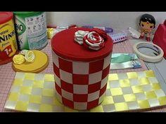 Artesanato Passo-a-Passo: Latas Decoradas com Fitas - Ideias e Dicas - YouTube