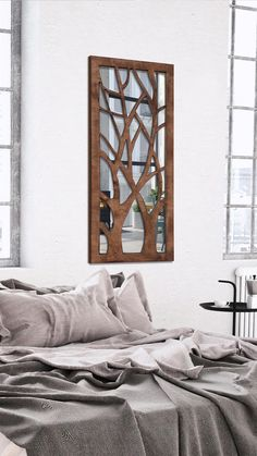 WOODMIRROR - TWIN TREES Wood Mirror, Twins, Furniture, Home Decor, Decoration Home, Room Decor, Home Furnishings, Gemini, Home Interior Design