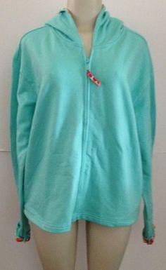 NWT Teal Sweatshirt Hoodie XL Luckee Lady Floral Tall Long Sleeves Aqua Boutique $27.99 w/free US ship #hoodie #springtop