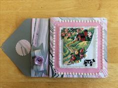 #26 Cross Stitch farm life birthday card made by Karen Miniaci