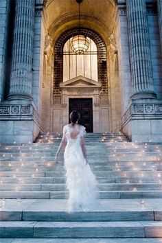 One of the most beautiful wedding photos of all time from Christian Oth Studios! Use Candle Impressions flameless votives to recreate this beautiful photo at your wedding. A timeless masterpiece! Perfect Wedding, Dream Wedding, Wedding Day, Church Wedding, Library Wedding, Wedding Entrance, Grand Entrance, Wedding Ceremony, Summer Wedding