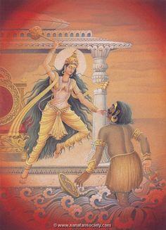 Baglamukhi Painting by Pieter Weltevrede - Sagar World - Blessed by Dr. Ramanand Sagar - - Goddesses - Baglamukhi is a form of Hindu Goddess Shakti. She is one of the ten Mahavidyas or Wisdom Goddesses. Kali Hindu, Krishna Hindu, Hindu Deities, Hindu Art, Hinduism, Durga Maa, Shiva, Divine Goddess, Kali Goddess