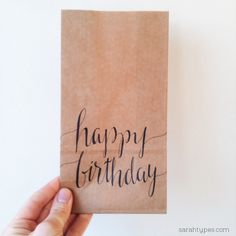 Happy Birthday Calligraphy Hand Lettering