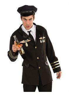 Pilot Mens Costume STD-XL