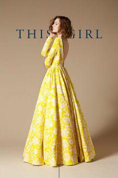 full yellow skirt